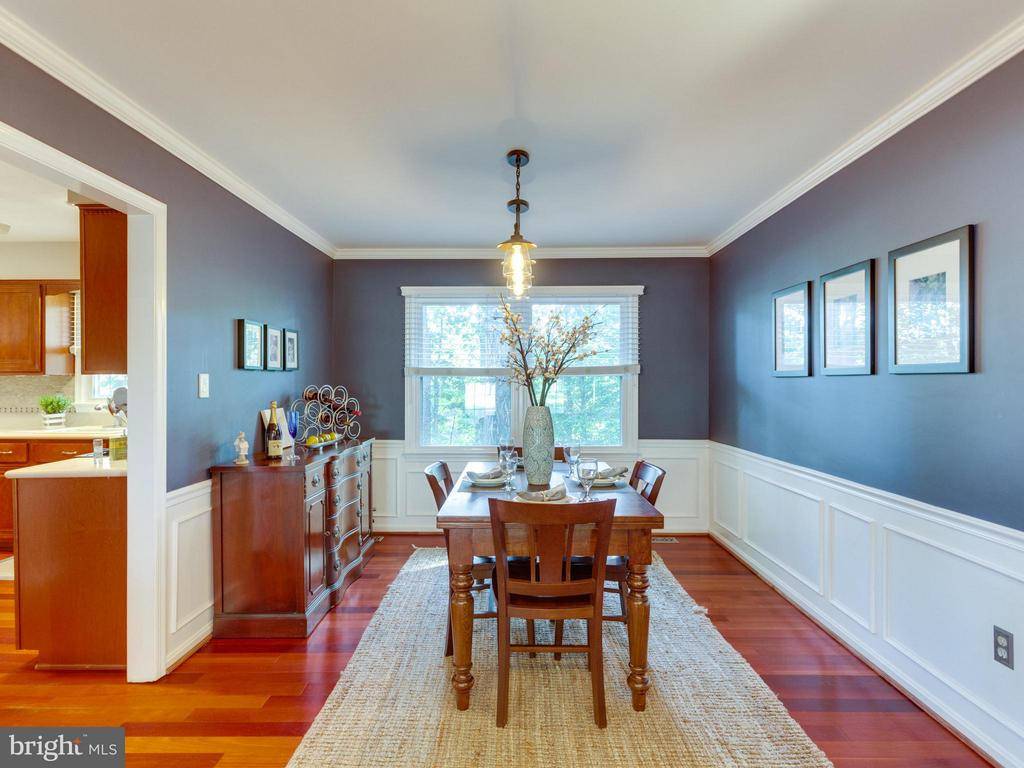Beautiful dining area with wainscoting - 6229 GENTLE LN, ALEXANDRIA