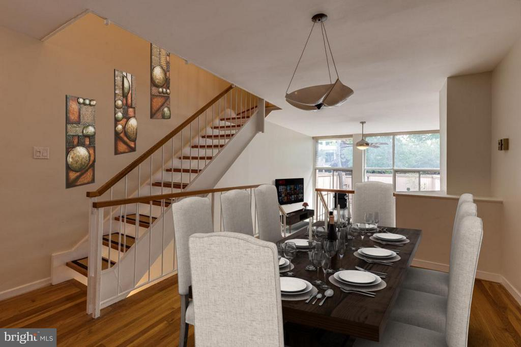 Dining Room just off kitchen perched above living - 292 M ST SW #292, WASHINGTON