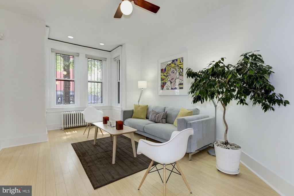 Unit #2 Living Room (1 of 2) - 1105 P ST NW, WASHINGTON
