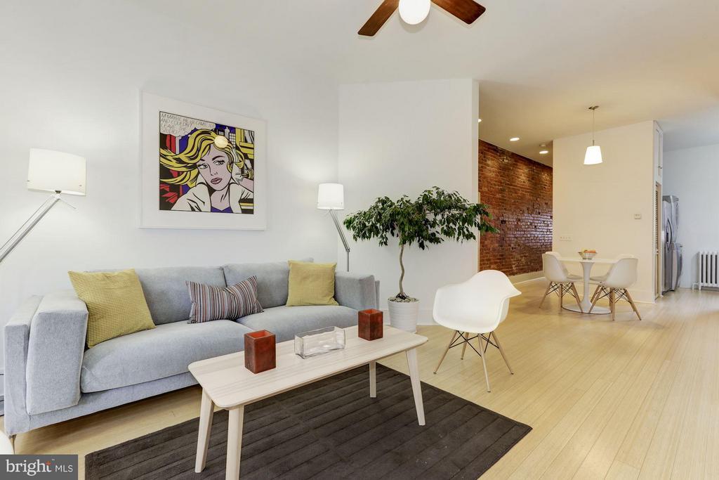 Unit #2 Living Room (2 of 2) - 1105 P ST NW, WASHINGTON