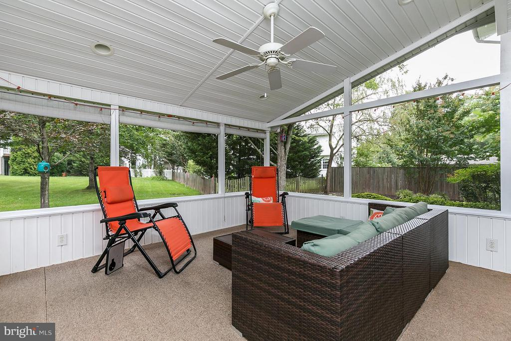 Screened-in Porch. Highlight of this home! - 12396 ROCK RIDGE RD, HERNDON