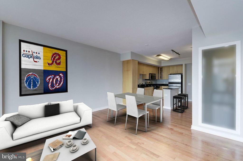 Living Room (3 of 4) - 475 K ST NW #711, WASHINGTON