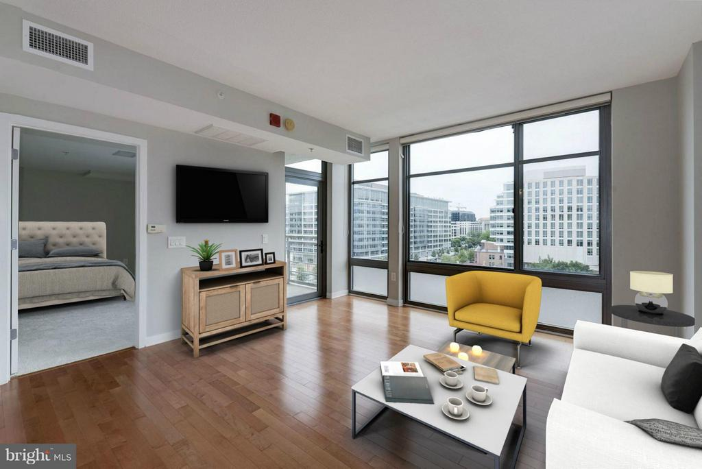 Living Room (1 of 4) - 475 K ST NW #711, WASHINGTON