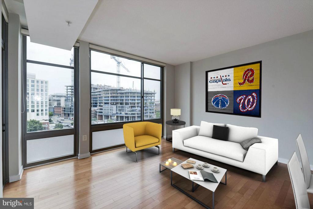 Living Room (2 of 4) - 475 K ST NW #711, WASHINGTON