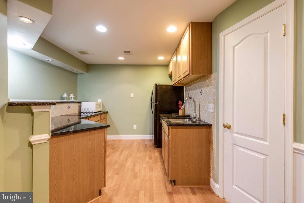Permitted kitchen for mother in law suite - 22728 DULLES GAP CT, ASHBURN