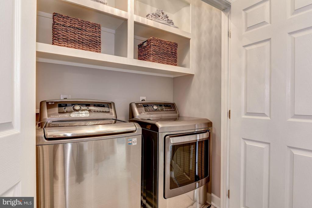 LAUNDRY ROOM - LG GRAPHITE WASHER & DRYER! - 8022 KIDWELL TOWN CT, VIENNA