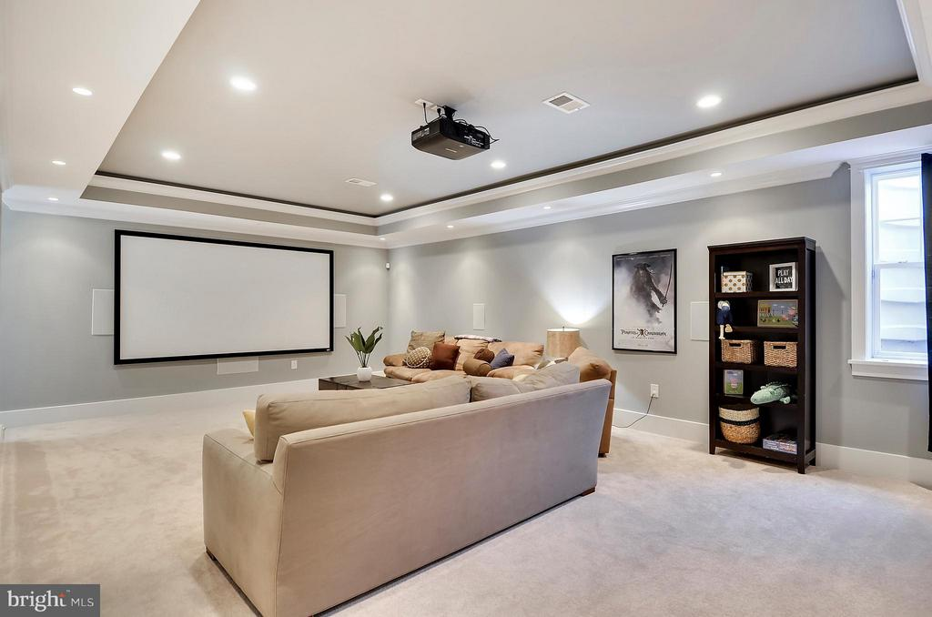 Lwr lvl Family Room/Theater Room - equipment stays - 5656 5TH ST N, ARLINGTON