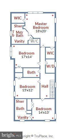 Upper level floorplan - 5656 5TH ST N, ARLINGTON