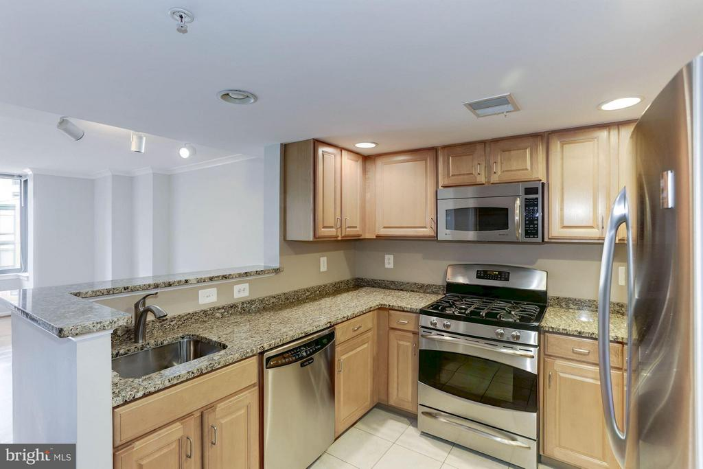KITCHEN - STAINLESS STEEL APPLIANCES, GAS COOKING - 2220 FAIRFAX DR #705, ARLINGTON