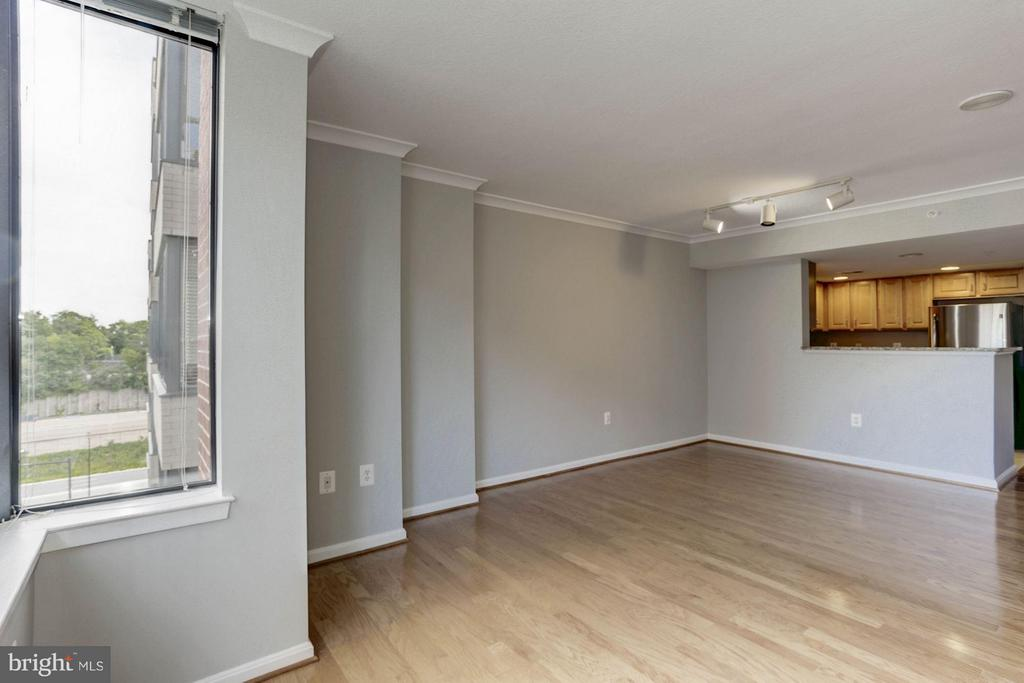 LIVING ROOM - HARDWOOD FLOORS, OVERHEAD LIGHTING - 2220 FAIRFAX DR #705, ARLINGTON