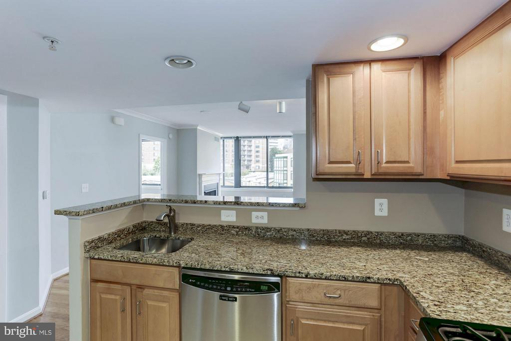 KITCHEN OPENS BEAUTIFULLY TO LIVING ROOM! - 2220 FAIRFAX DR #705, ARLINGTON