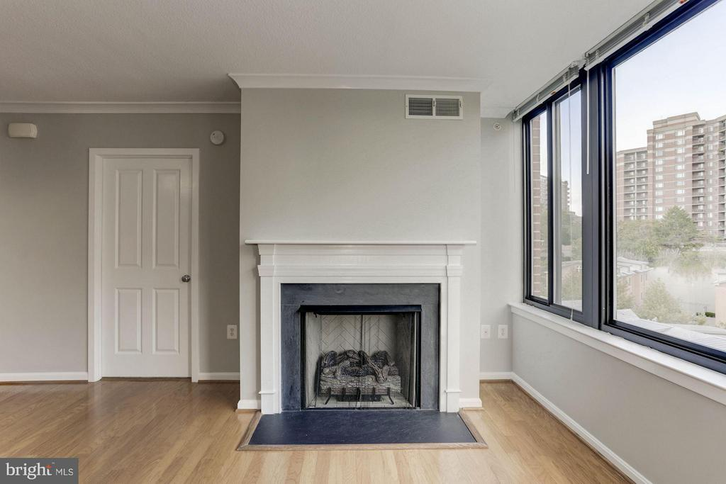 LIVING ROOM FEATURES GAS FIREPLACE! - 2220 FAIRFAX DR #705, ARLINGTON