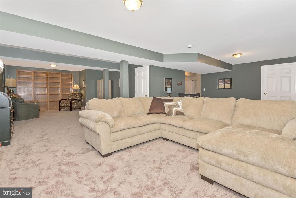 Rec room with built in shelving. - 5903 RIVERWOOD CT, FREDERICK