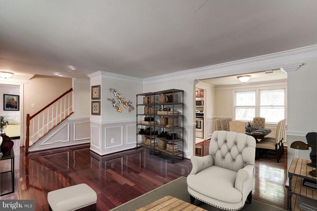Living Room (2 of 3) - 602 MERLINS LN, HERNDON