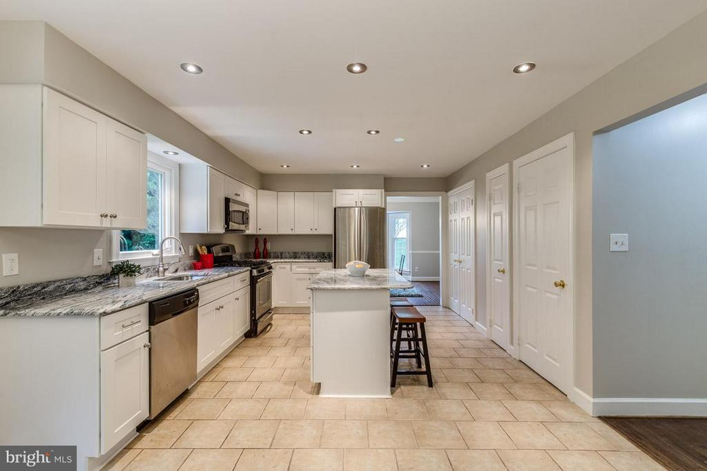 New recessed lighting provides tons of light. - 12105 METCALF CIR, FAIRFAX