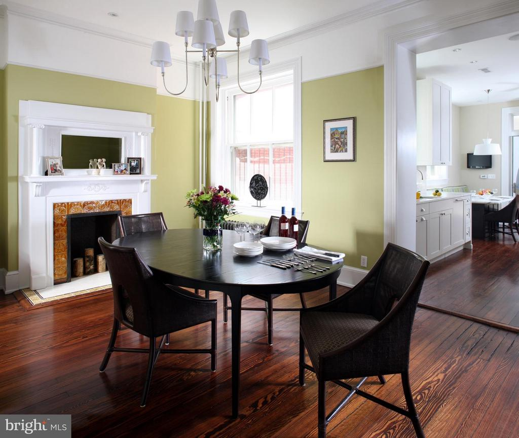 Spacious dining room with open flow to the kitchen - 1115 EAST CAPITOL ST SE, WASHINGTON