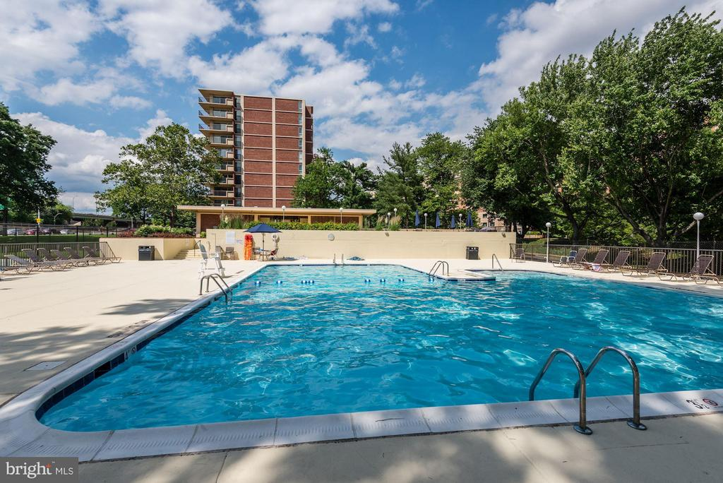 Beautifully maintained community pool - 1300 ARMY NAVY DR #630, ARLINGTON