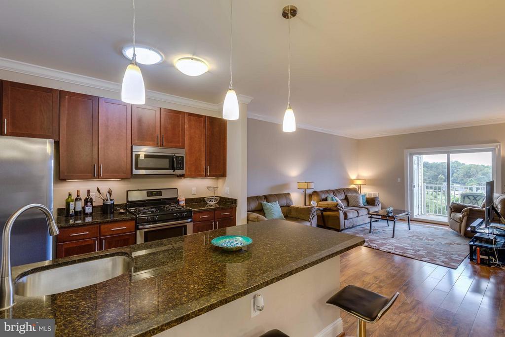 Kitchen - Granite Counters - 6301 EDSALL RD #620, ALEXANDRIA