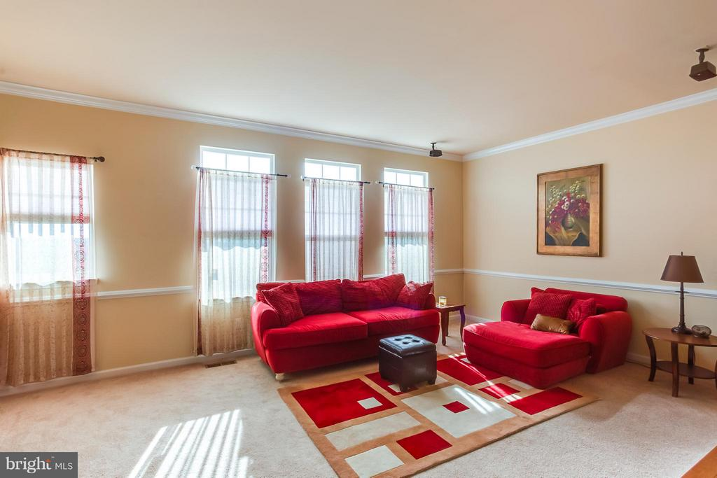 Family Room w/ Chair Railing and Crown Molding - 103 SHORT BRANCH RD, STAFFORD