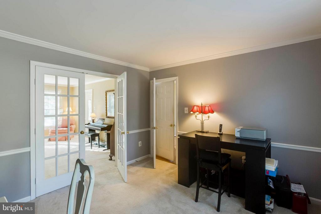 Office/ study French doors to living room - 6 APPLING RD, STAFFORD