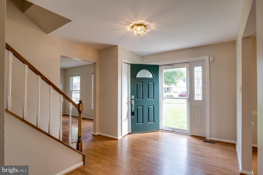 Entry foyer with new lighted front door - 13609 DAIRY LOU CT, OAK HILL