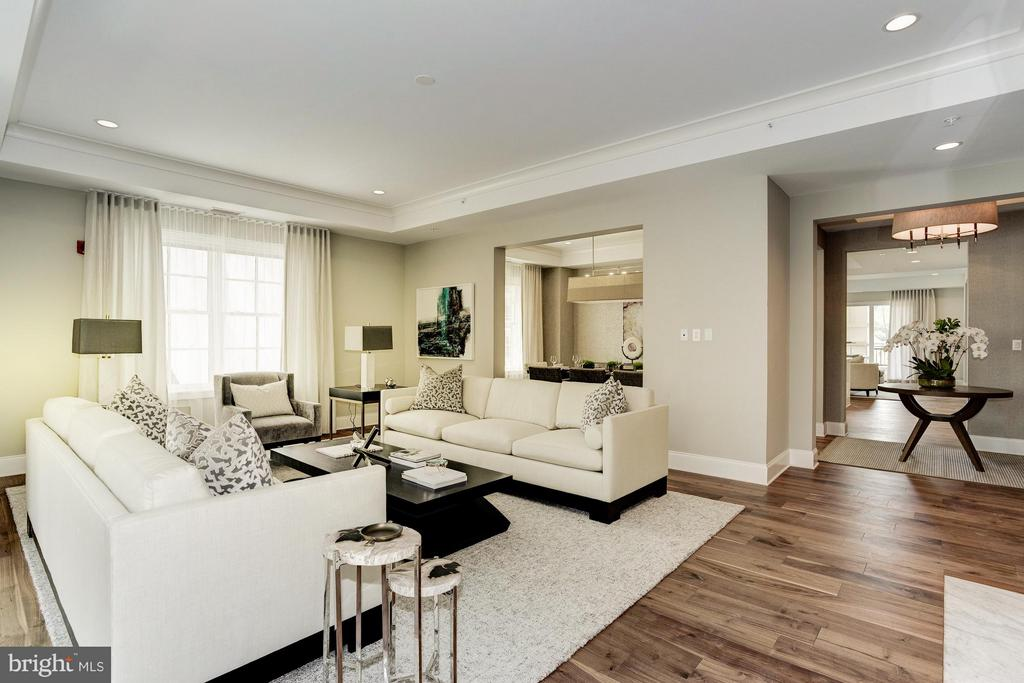 Living Room - 8111 RIVER #136 3RD FLOOR, BETHESDA