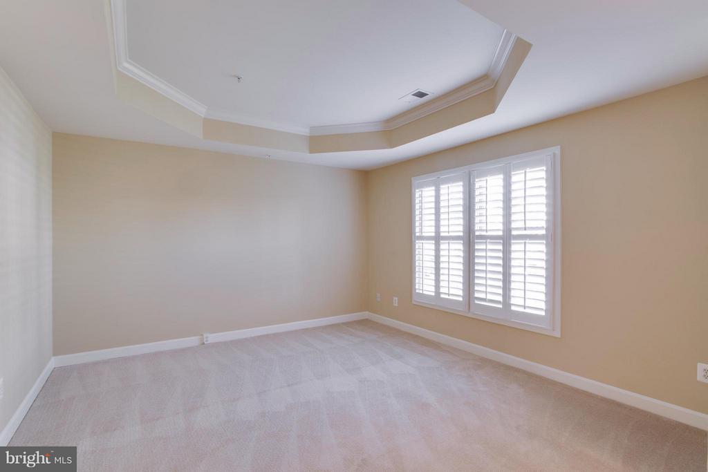 Master bedroom with tray ceiling - 18530 BEAR CREEK TER, LEESBURG