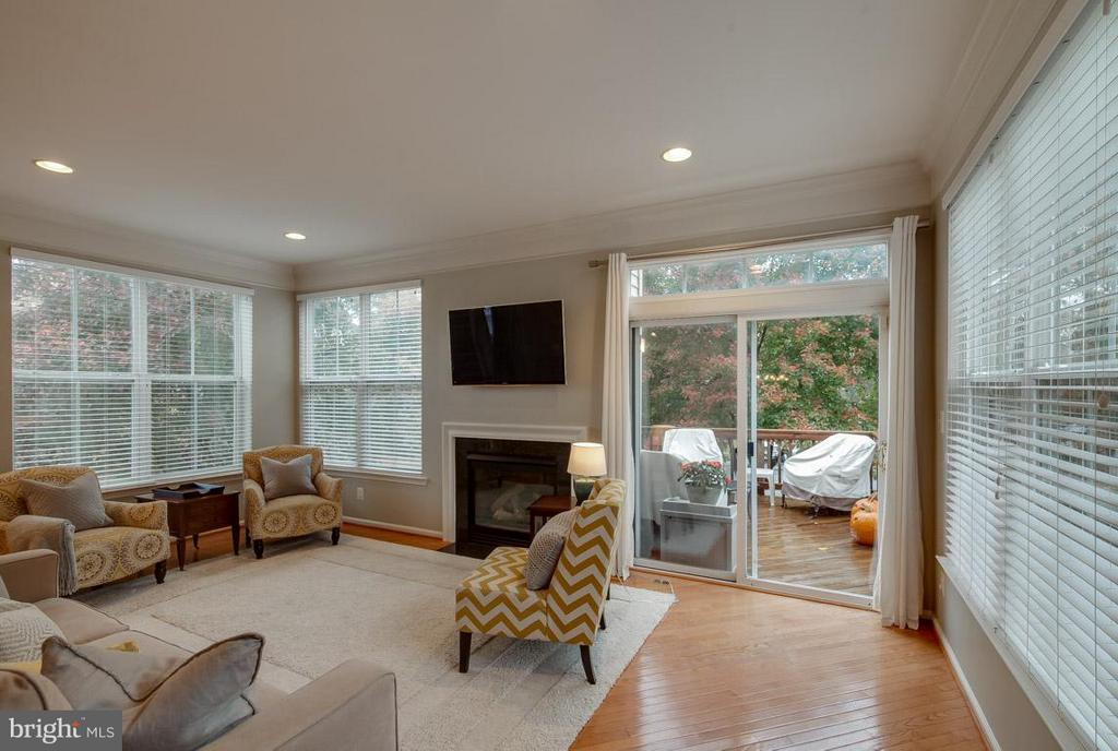Light-filled Family Room that Leads to Deck - 43119 HUNTERS GREEN SQ, BROADLANDS