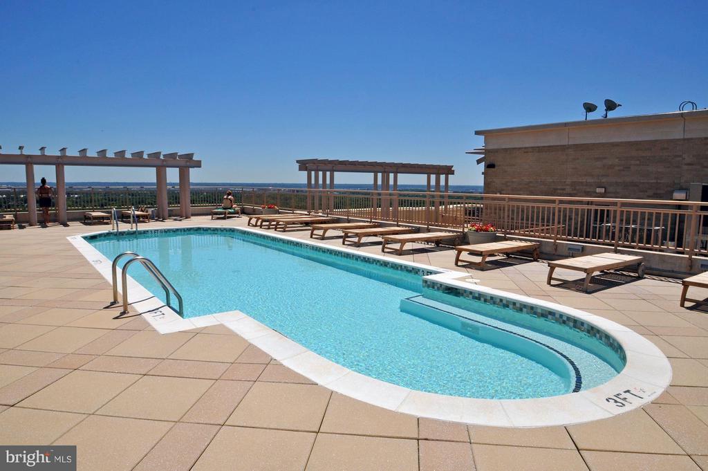 Rooftop Pool - 888 QUINCY ST #1107, ARLINGTON