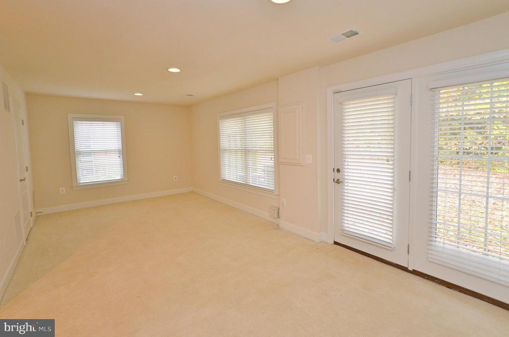 Basement with Walk out to rear yard - 4458 BLACK IRONWOOD DR, FAIRFAX