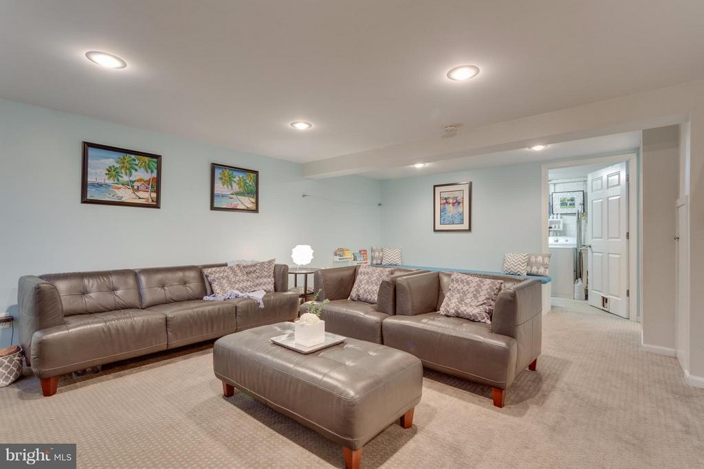 Basement with recessed lighting - 2961 SYCAMORE ST, ALEXANDRIA