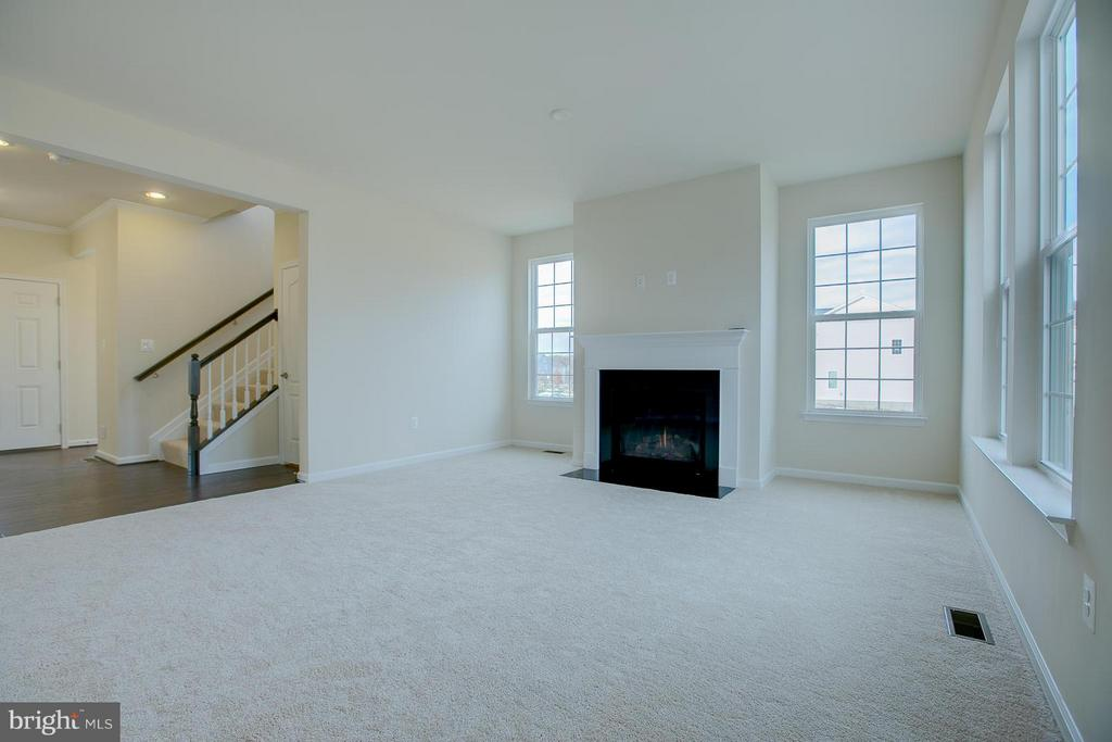 Living Room With Gas Fireplace -Open Living Space! - 312 PEAR BLOSSOM RD, STAFFORD