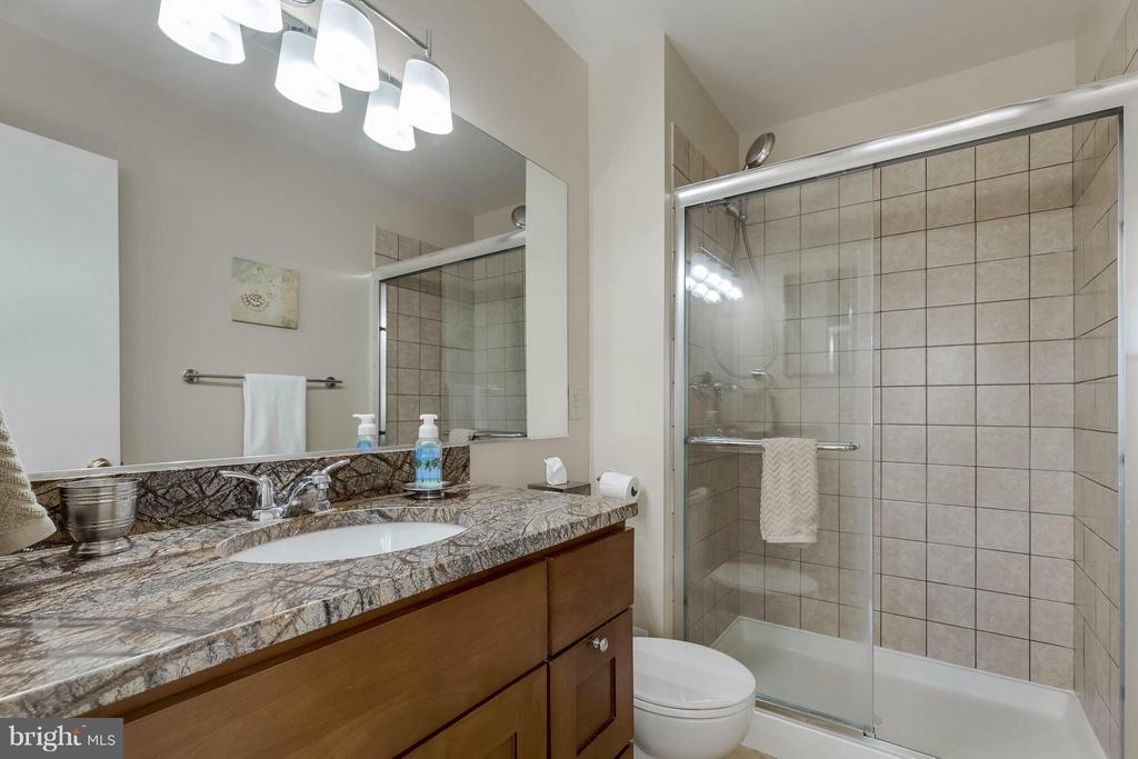 Master bath with granite new lights - 106 VICTORIA PL, STERLING