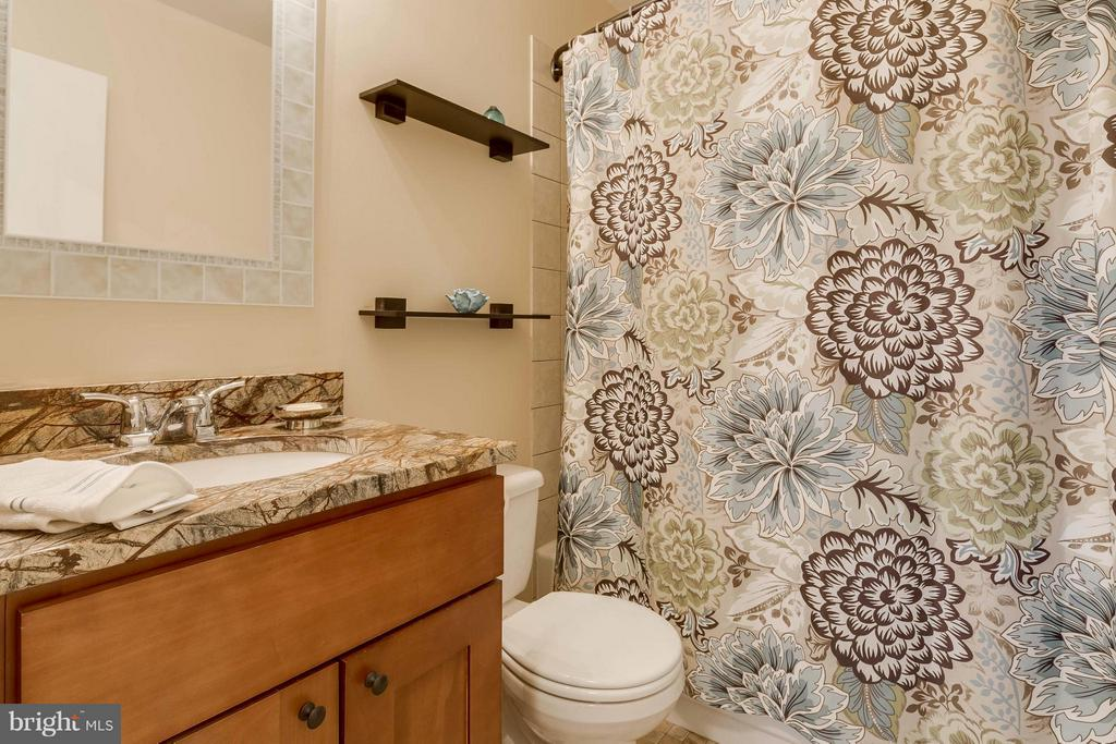 Hall bath  with granite counters updated cabinets - 106 VICTORIA PL, STERLING