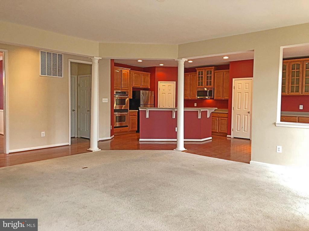 Family Room View to Kitchen - 5405 SILVER MAPLE LN, FREDERICKSBURG