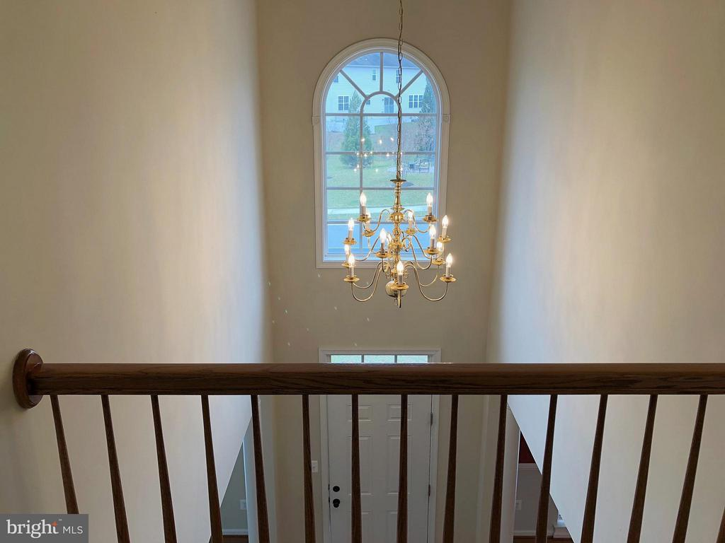 View to foyer from Stairs - 5405 SILVER MAPLE LN, FREDERICKSBURG