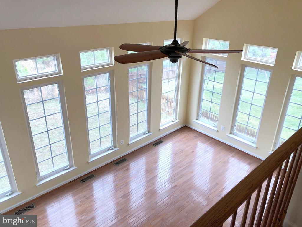 View of Sunroom from Stairs - 5405 SILVER MAPLE LN, FREDERICKSBURG