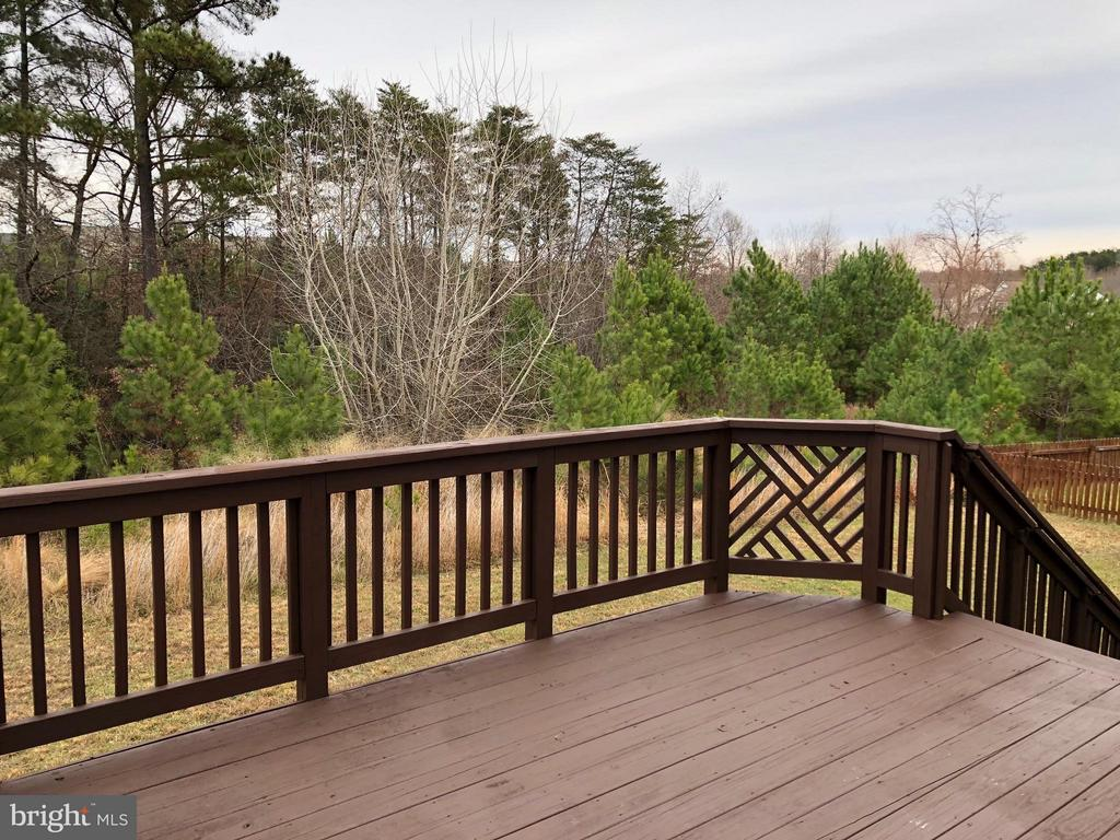 Exterior (Rear) view from Deck - 5405 SILVER MAPLE LN, FREDERICKSBURG