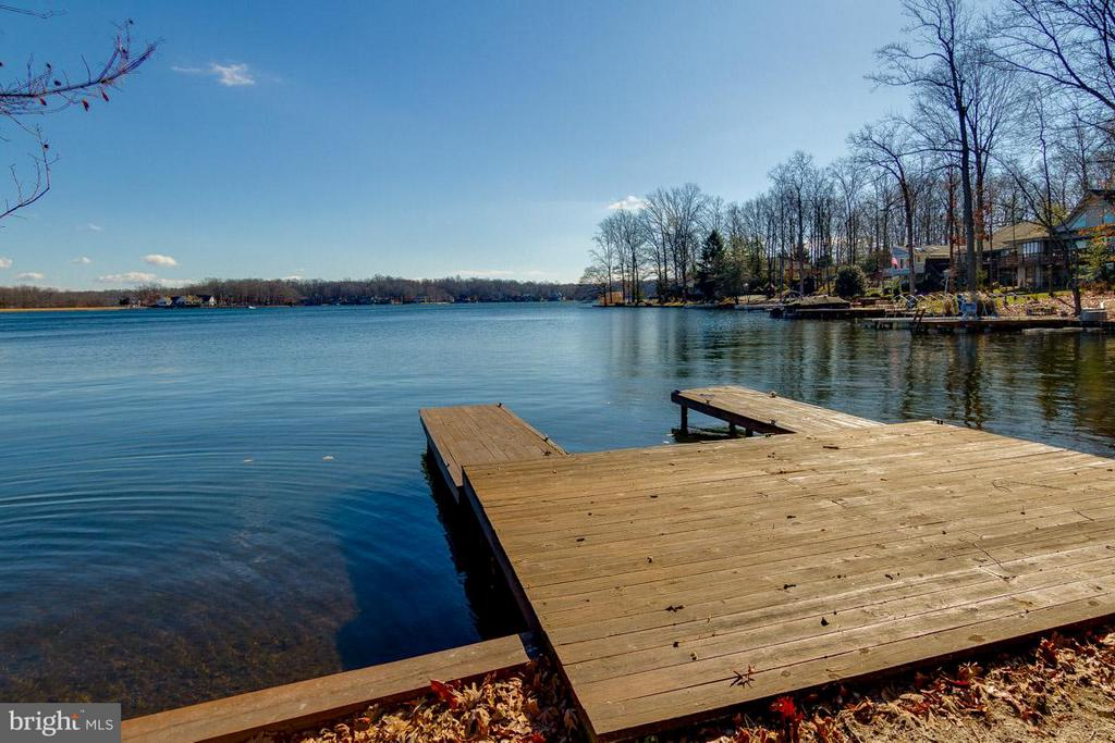 View from dock & beach - 221 WAKEFIELD DR, LOCUST GROVE