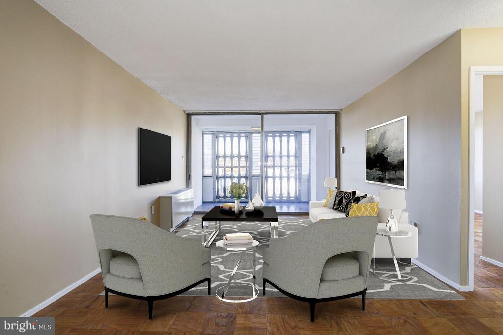 Living Room - 1301 DELAWARE AVE SW #N-303, WASHINGTON