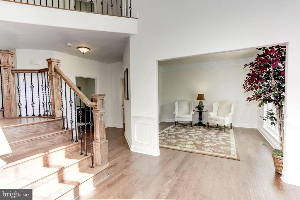 Open two-level Foyer with custom staircase - 220 MOUNT HOPE CHURCH RD, STAFFORD
