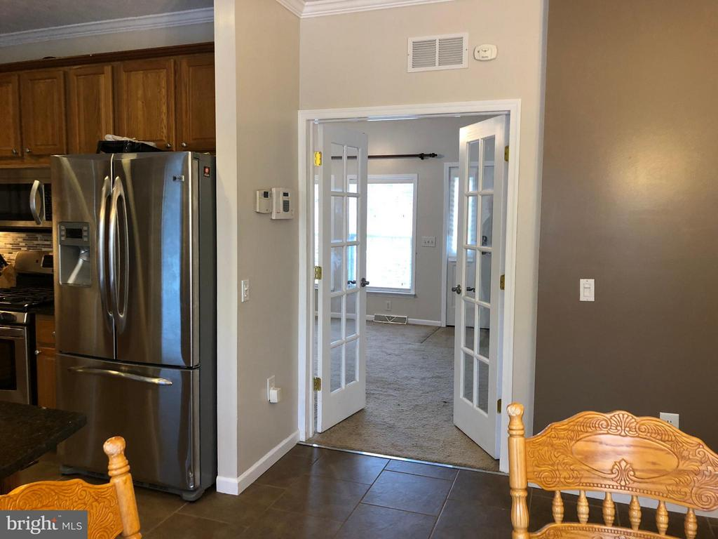 French Doors to Living Room - 14609 ANTLER RD, FREDERICKSBURG