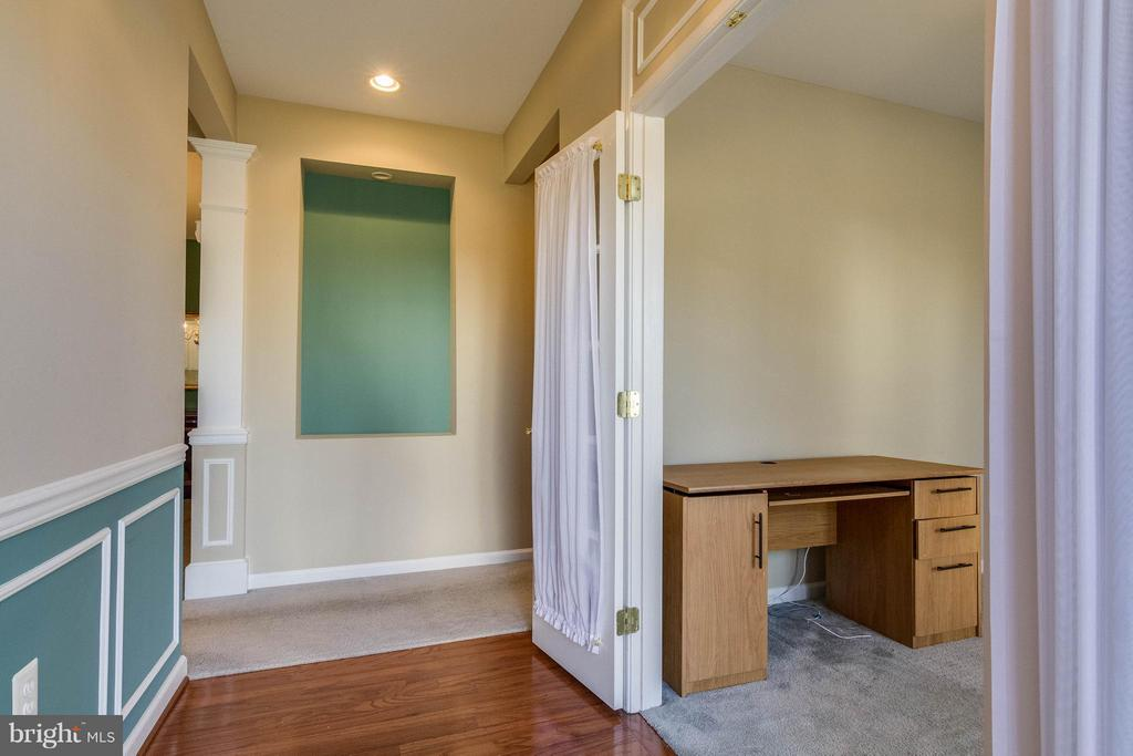 Foyer wood floor and office with French Doors - 1 ASPEN HILL DR #50, FREDERICKSBURG