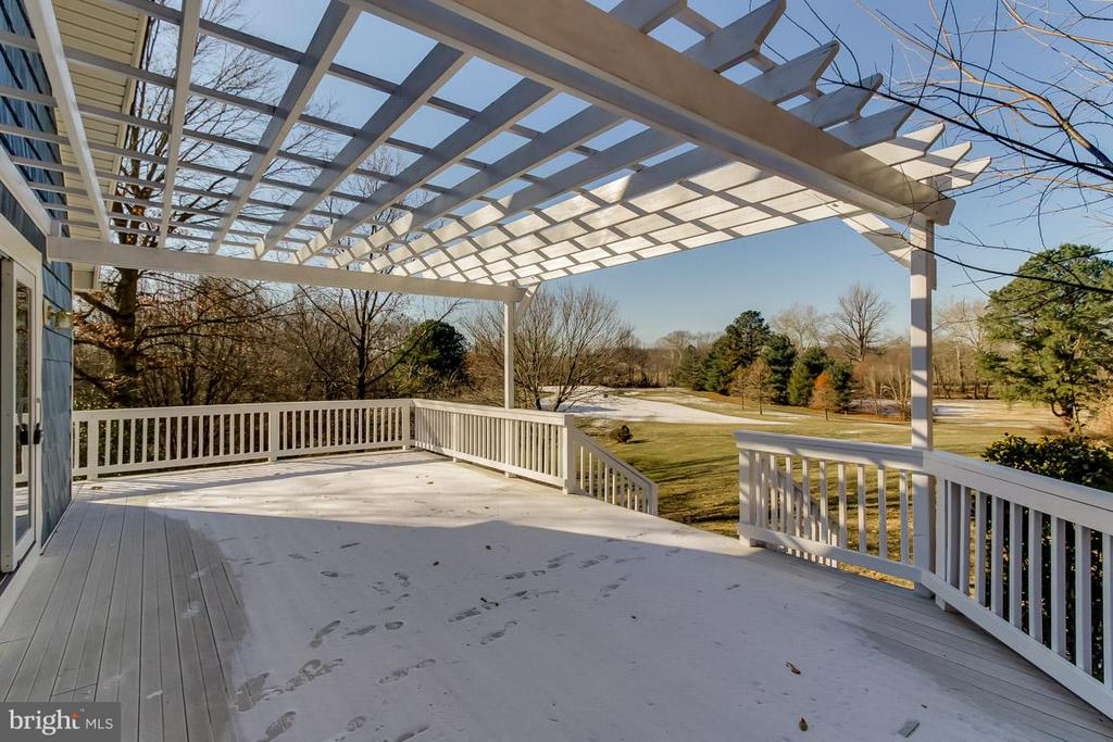 Deck Overlooks Golf Course - 9666 SPRINGS RD, WARRENTON