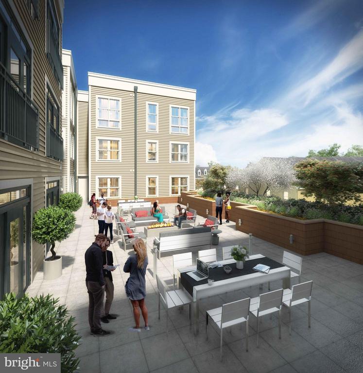 Resident Courtyard - 989 BUCHANAN ST S #409, ARLINGTON