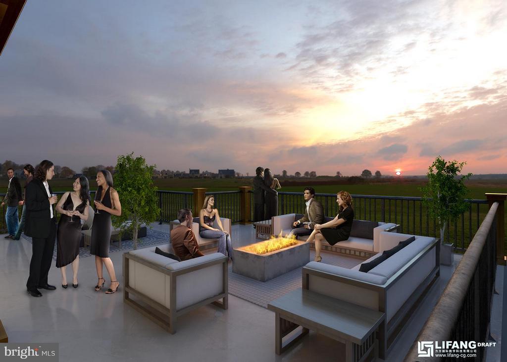 open roof terrace - 314 BALDWIN STREET #314, GAITHERSBURG