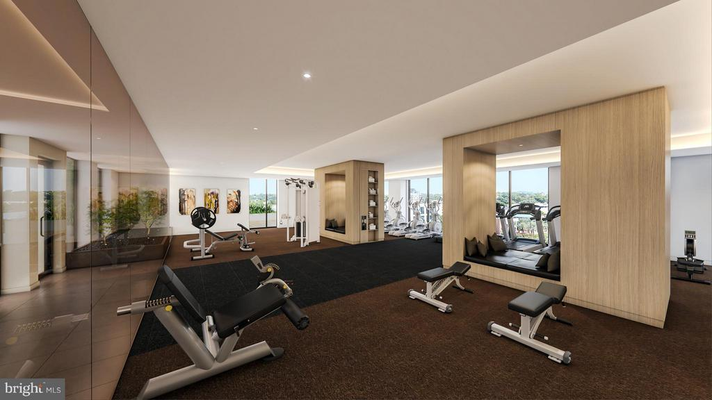 Huge 3000 sq ft fitness center- separate yoga room - 1650 SILVER HILL DR #1110, MCLEAN