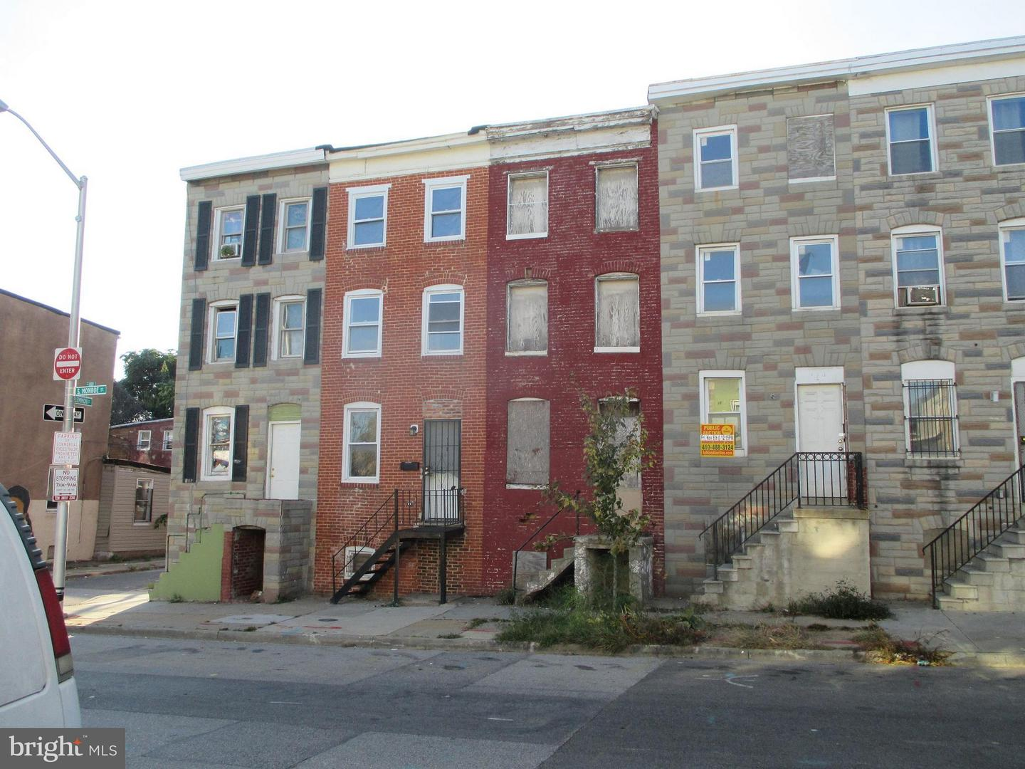 Single Family for Sale at 114 Monroe St S Baltimore, Maryland 21223 United States