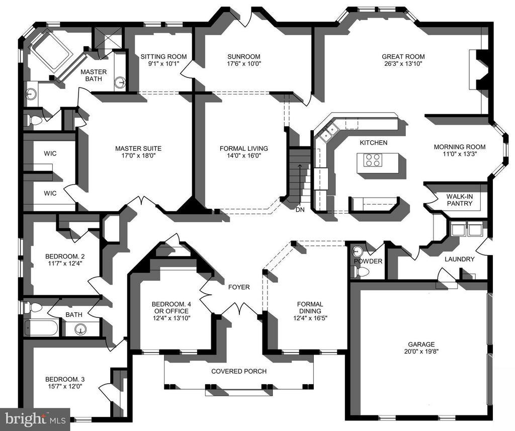 Main level floorplan - 16952 OLD SAWMILL RD, WOODBINE