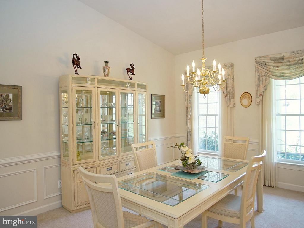 Dining Room with decorative moldings - 16952 OLD SAWMILL RD, WOODBINE